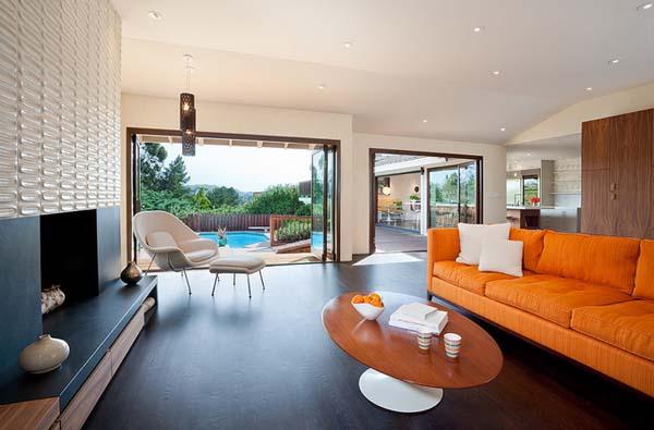 15 идей оранжево-белой гостиной