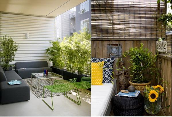 for Zen style balcony